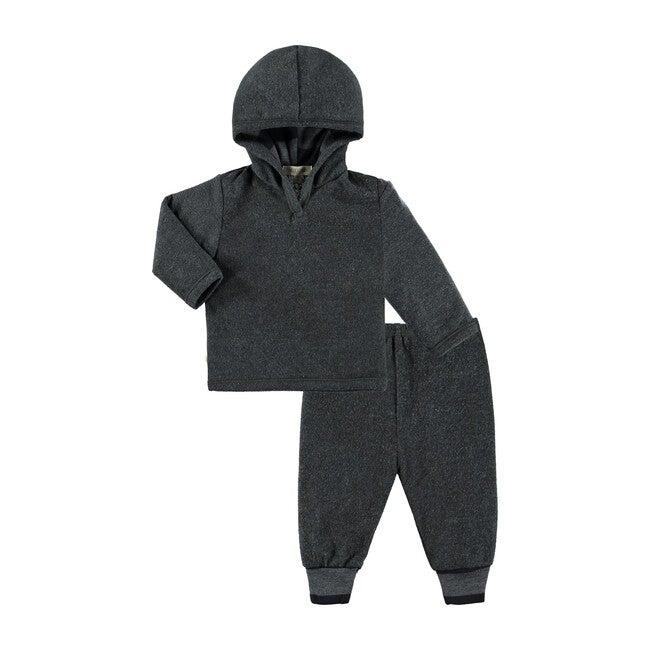 Hoodie & Pants Loungwear Set, Vintage Charcoal