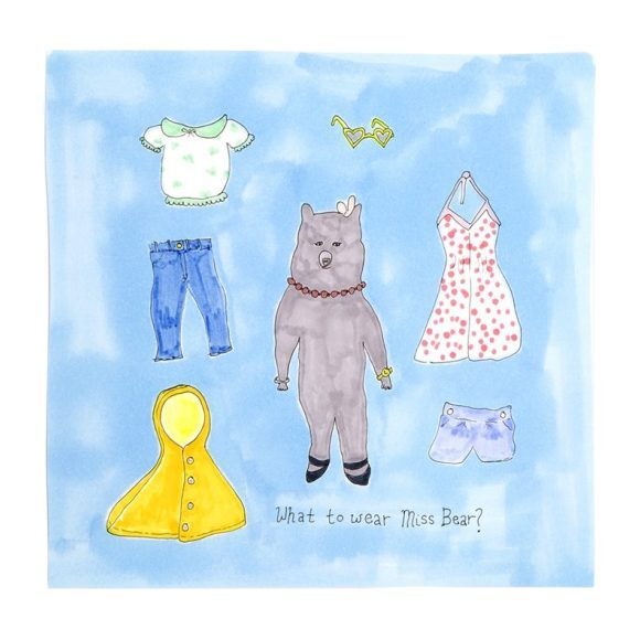 """What to Wear Miss Bear?, 8"""" x 8"""""""