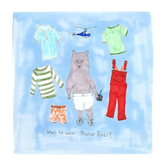 """What to Wear Mr. Bear?, 8"""" x 8"""""""