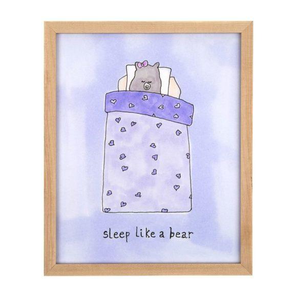 """Sleep Like a Bear (Girl), 8"""" x 10"""""""