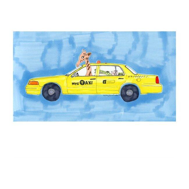 """NYC Taxi, 8"""" x 14"""""""