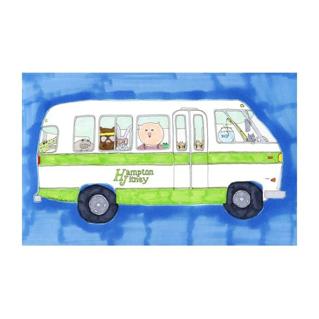 """Beach Bus, 8"""" x 14"""""""