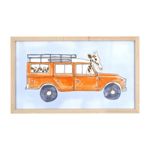 "Land Rover Giraffe, 8"" x 14"""