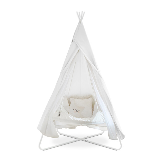 Kids TiiPii Bed Playtime Cover for Bambino TiiPii Stand, White