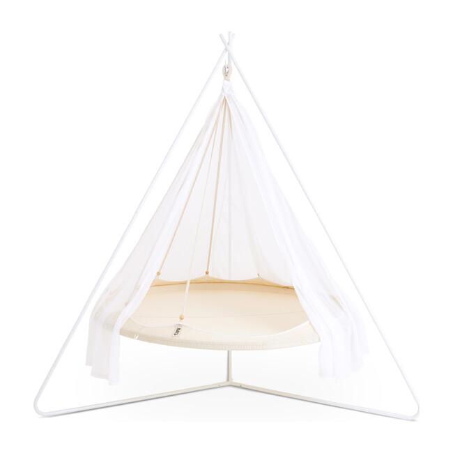 Classic TiiPii Bed + White Classic Stand Set, Natural White