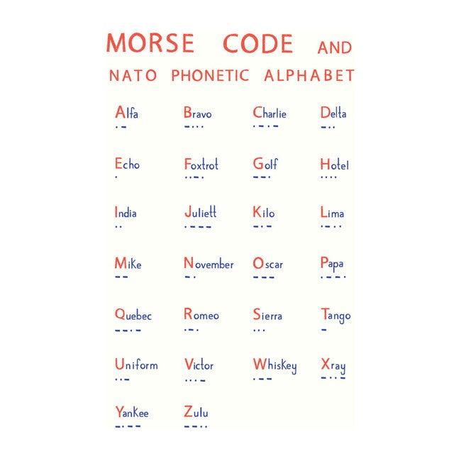 Morse Code Art Print