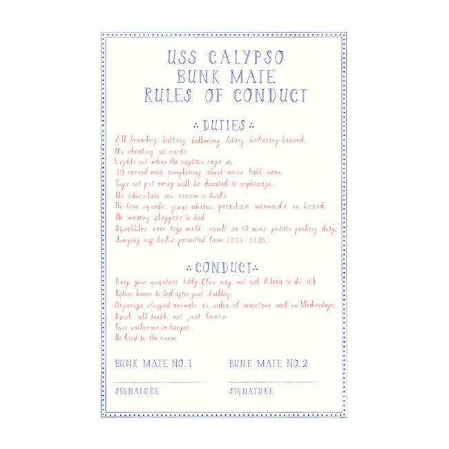 Bunk Rules Art Print