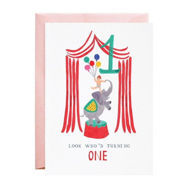 One Ellie Elephant Birthday Card