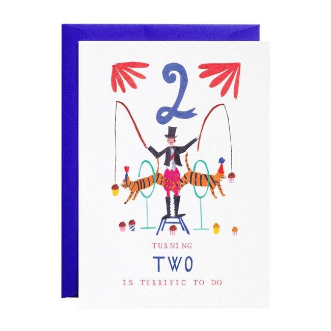 Two Tiger Twins Birthday Card