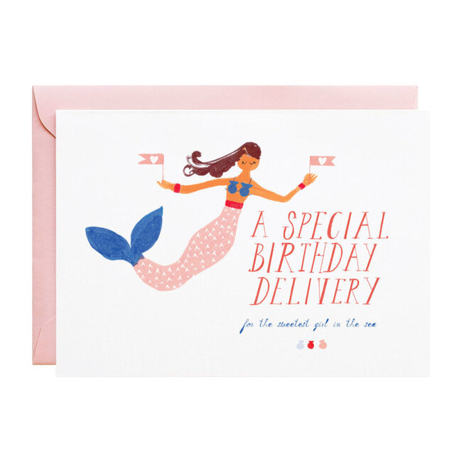 Mermaid Delivery Birthday Card