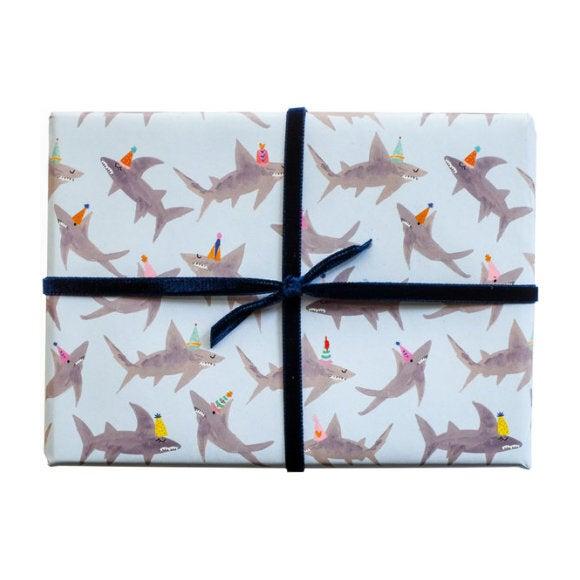 School of Sharks Gift Wrap