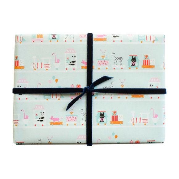Choo Choo Train Gift Wrap