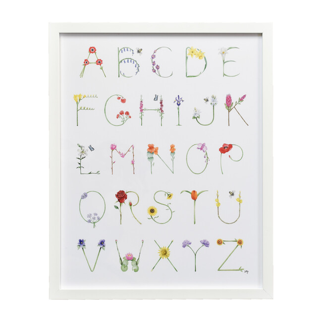 "Flower Alphabet, 16"" x 20"""