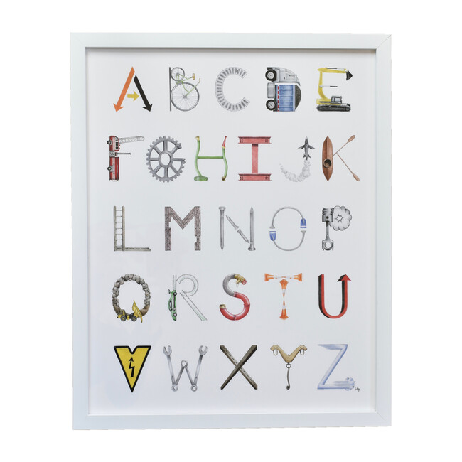 "Construction Alphabet, 16"" x 20"""