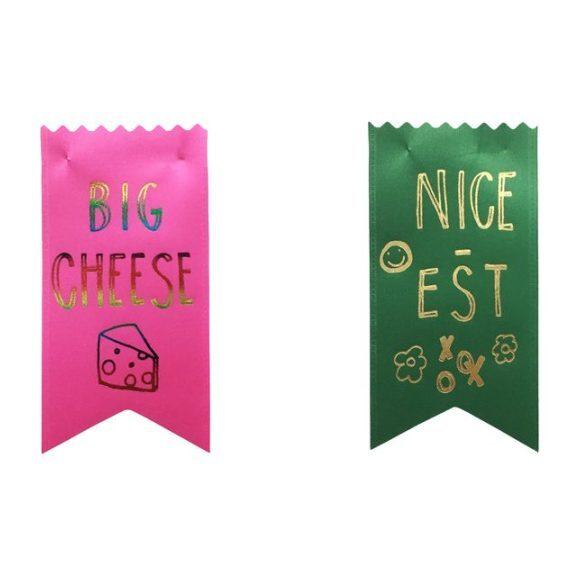 Set of 2 Merit Badges, Big Cheese/Nicest