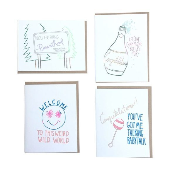 Set of 8 Baby Cards