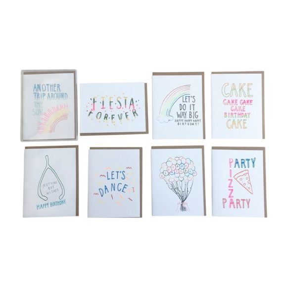 Set of 8 Assorted Birthday Cards
