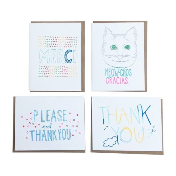 Set of 8 Thank You Notes