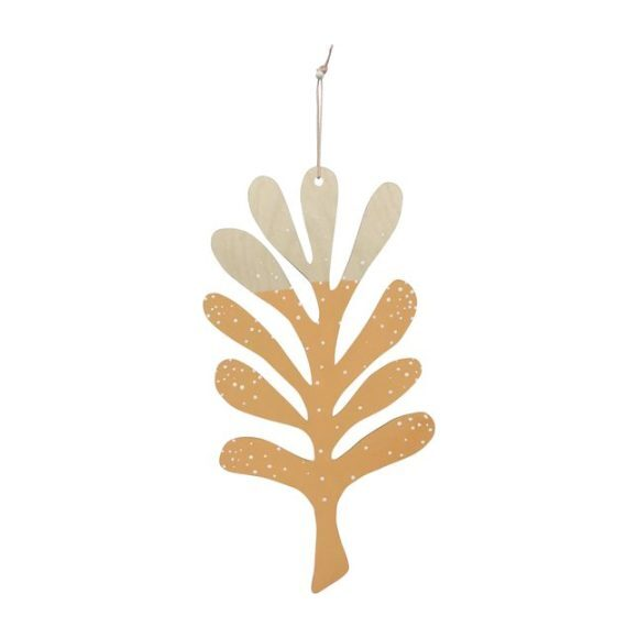 Coral Wall Charm, Golden