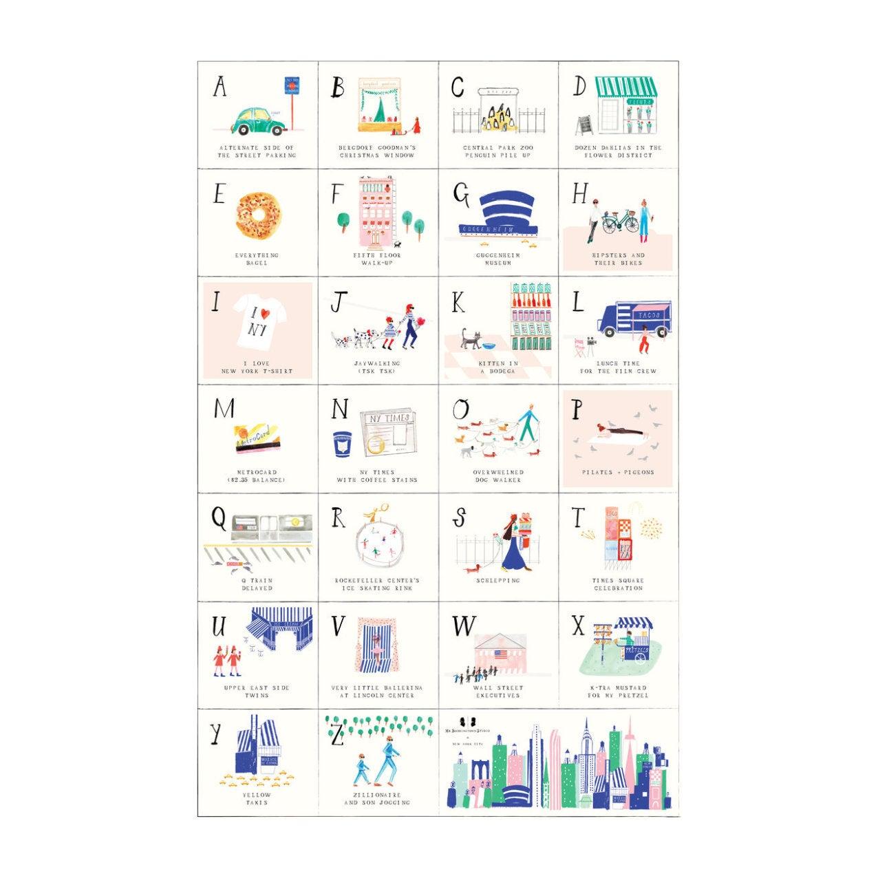 ABC Art Print, New York City