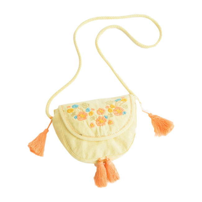 Yellow Embroidery Purse