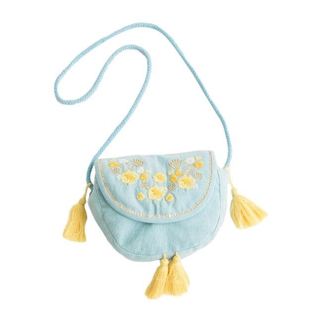 Blue Embroidery Purse