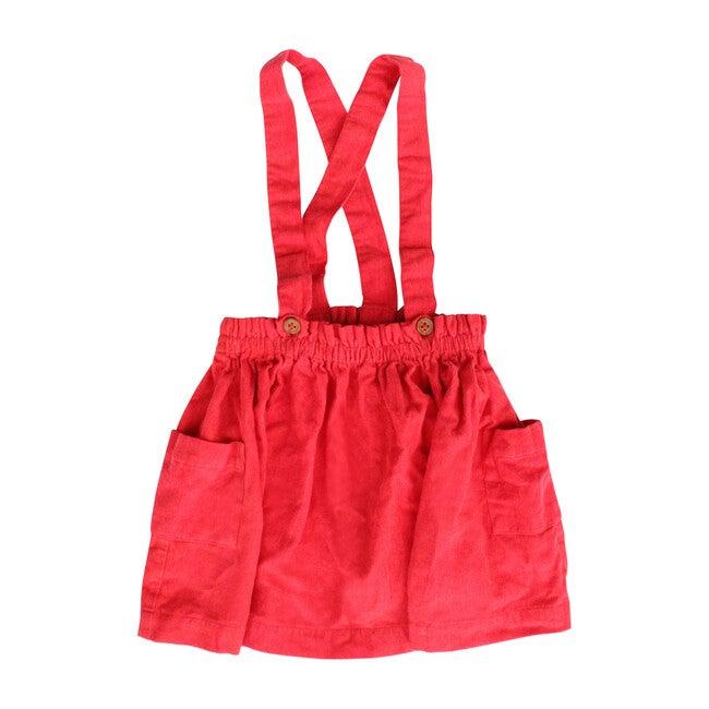 Suspender Skirt, Red - Skirts - 1