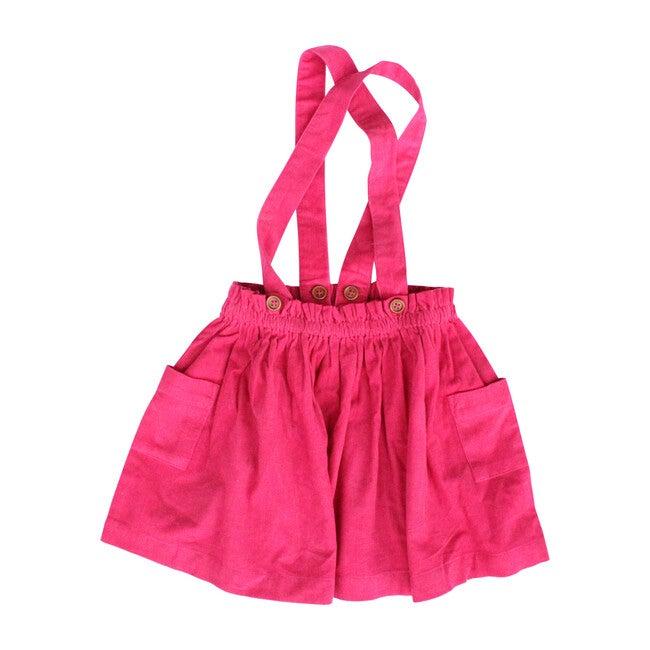 Suspender Skirt, Hot Pink