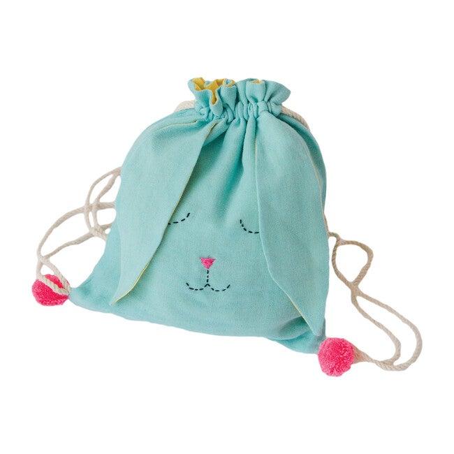 Sleeping Bunny Backpack, Blue