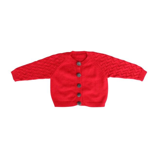 Pom Pom Sweater, Red