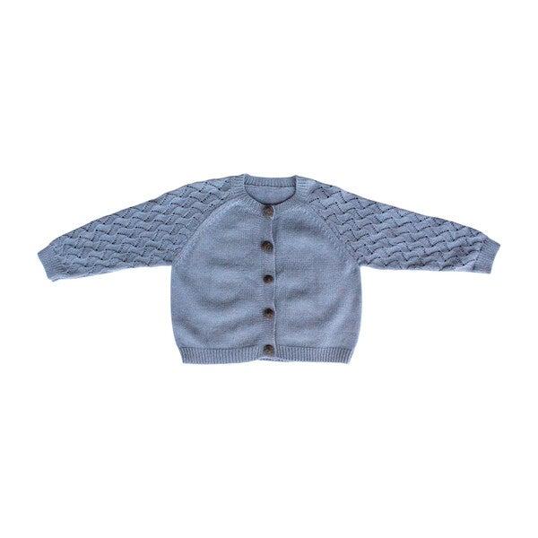 Pom Pom Sweater, Dusty Blue