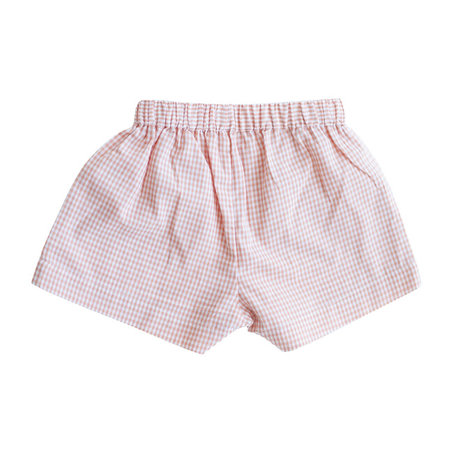 Peach Gingham Begonia Shorts