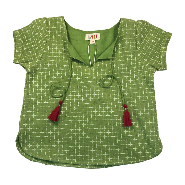 Princess Top, Green Stitches