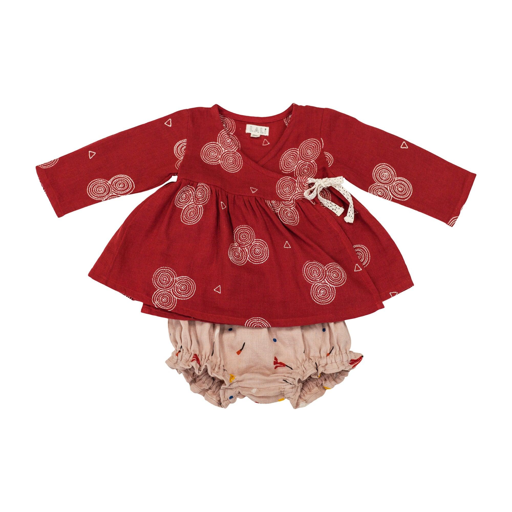 Garnet Baby Wrap Set, Red