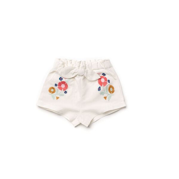 Embroidery Shorts, White