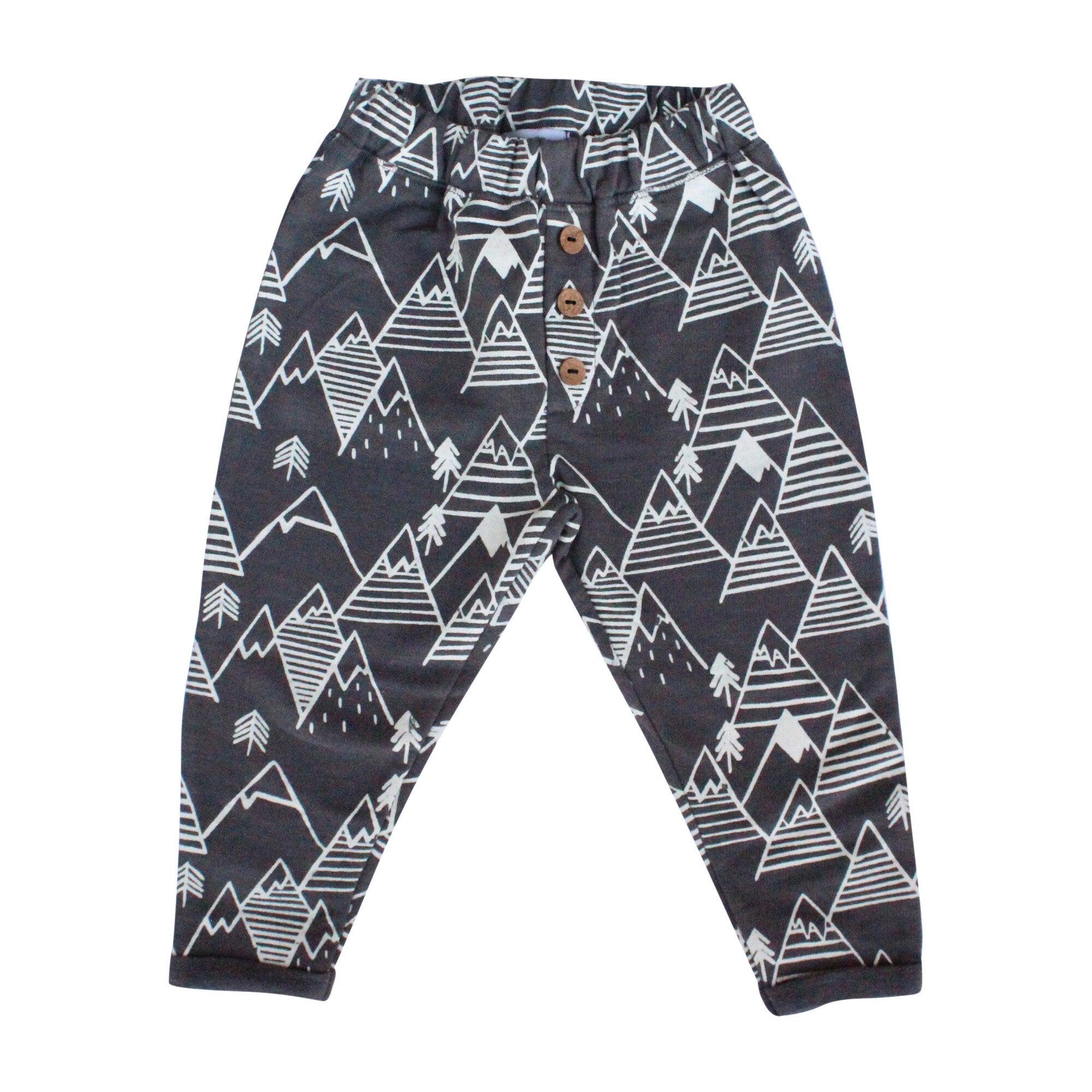 Button Pants, Gray Mountains