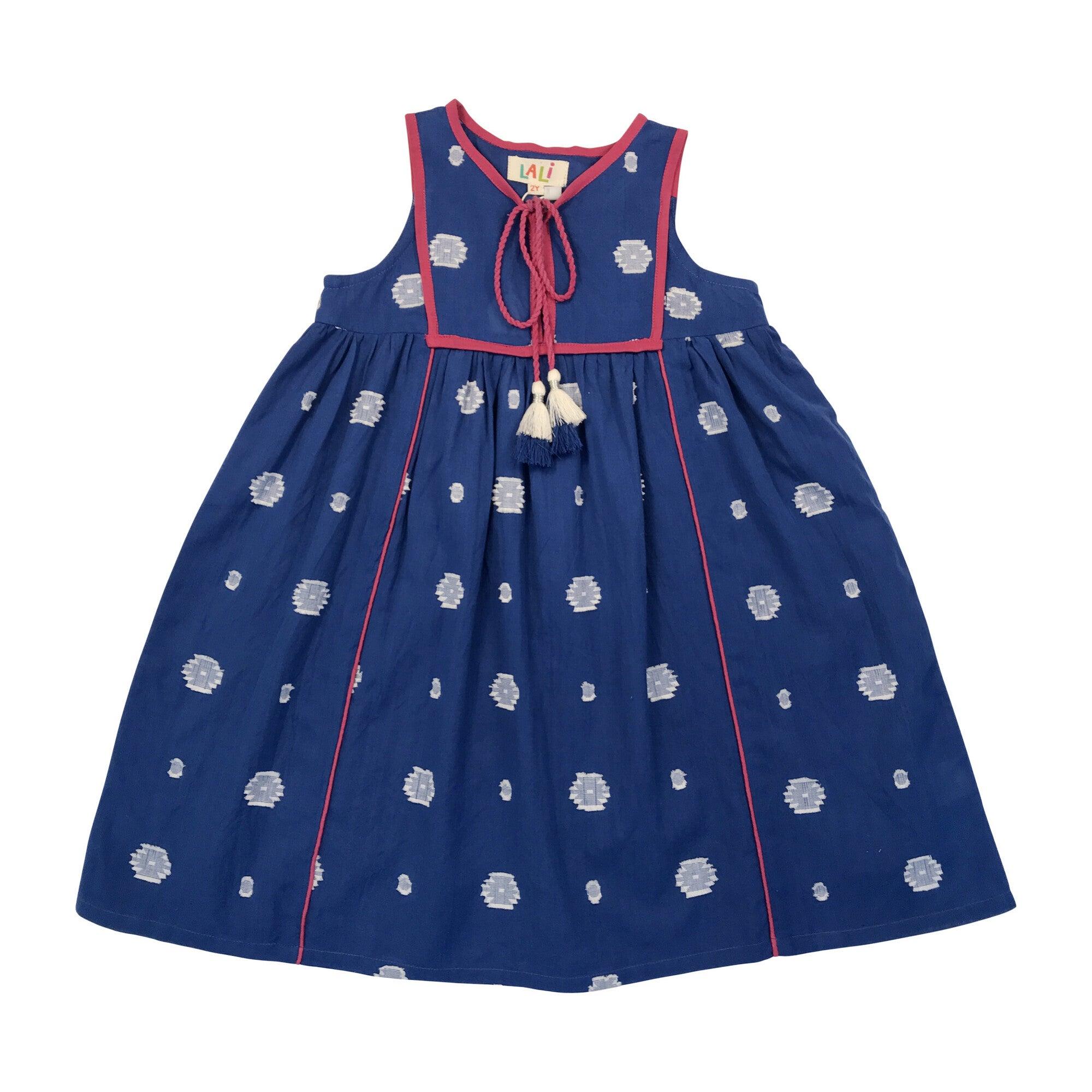 Midi Dress, Blue Jambdani