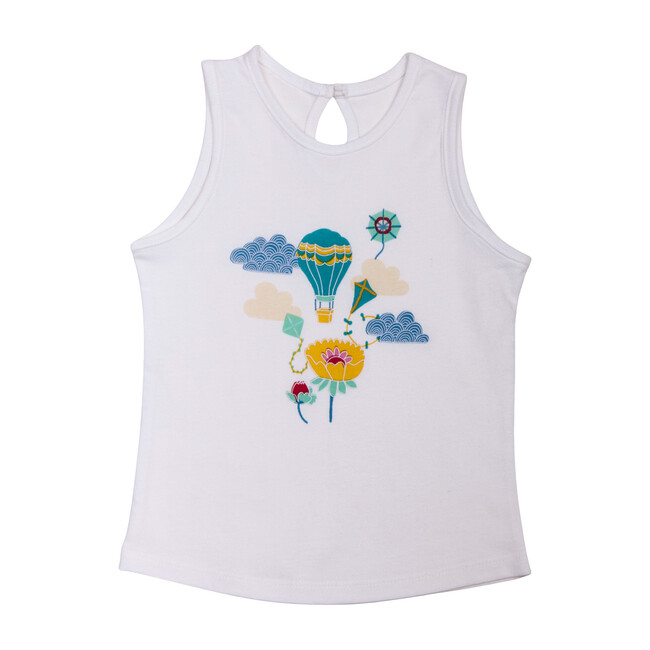 Balloon Tank Top, White