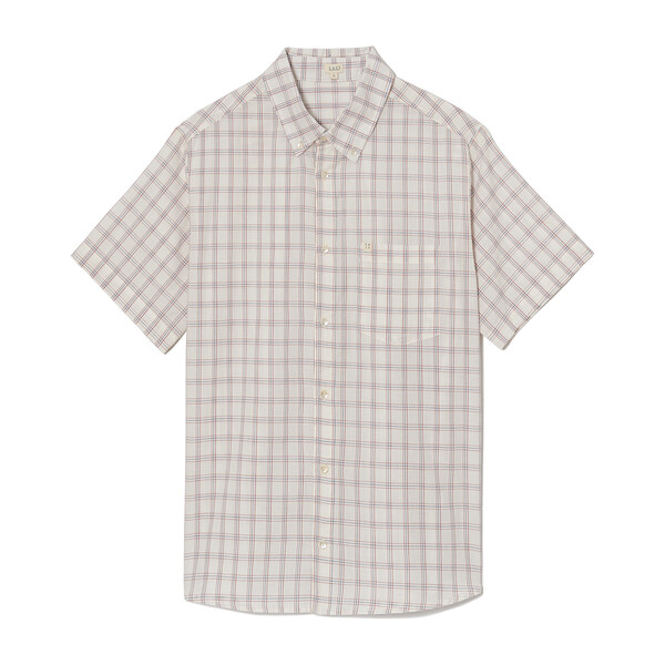 *Exclusive* Men's White Chex Shirt