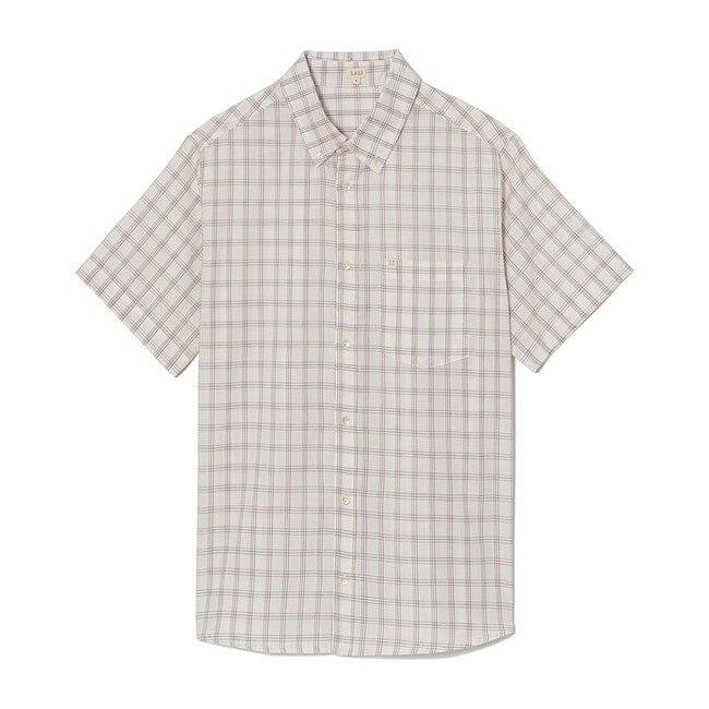 *Exclusive* Men's White Chex Shirt