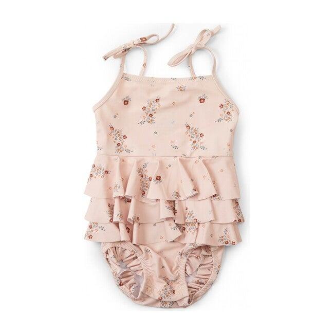 Manuca Frill Swimsuit, Nostalgie Blush