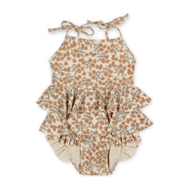 Manuca Frill Swimsuit, Orangery Beige