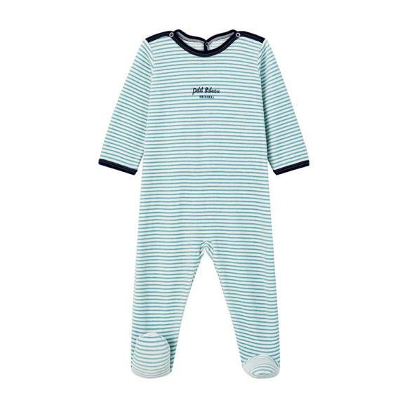 Lanice Pajamas With Feet Stripes, Blue