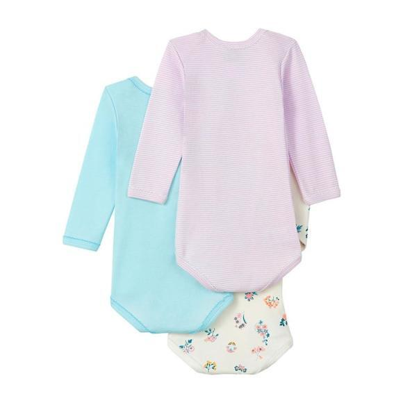 Set Of Three Bodysuits, Pastel