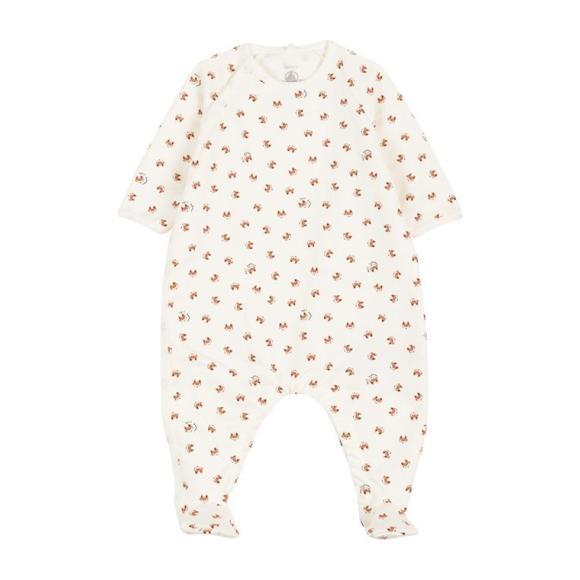 Lambeau Pajamas With Feet, Cream
