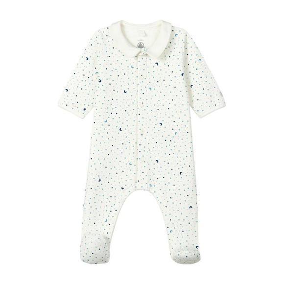 Ladico Pajamas With Feet, Blue Night Sky Print - Pajamas - 1