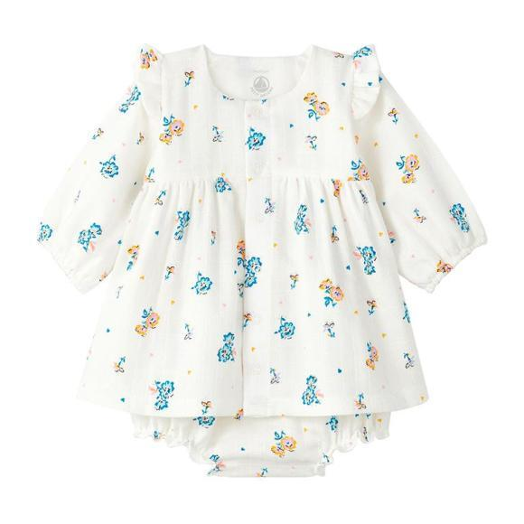 Ladivine Dress With Bloomers Floral Print, Cream