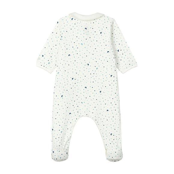 Ladico Pajamas With Feet, Blue Night Sky Print