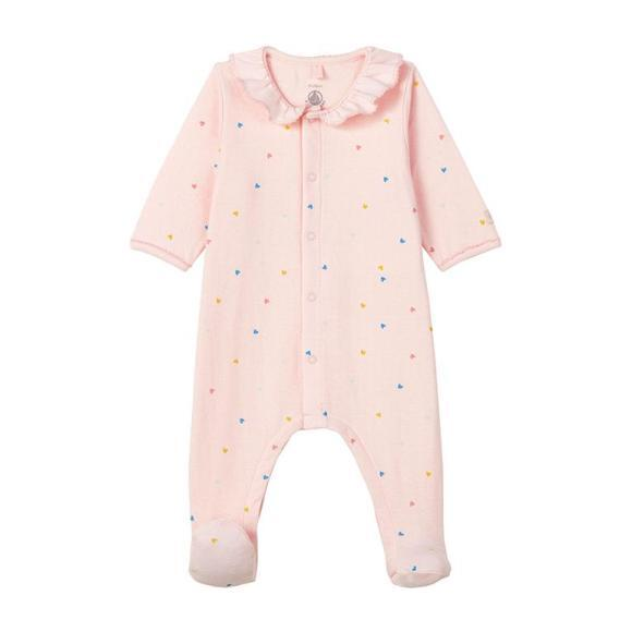 Label Pajamas With Feet, Pink - Pajamas - 1