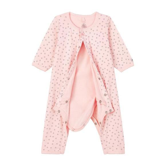 Lacoupe Pajamas With Feet, Pink Star Print